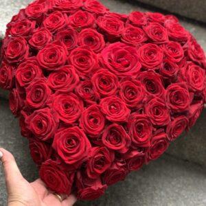 rødt blomster hjerte