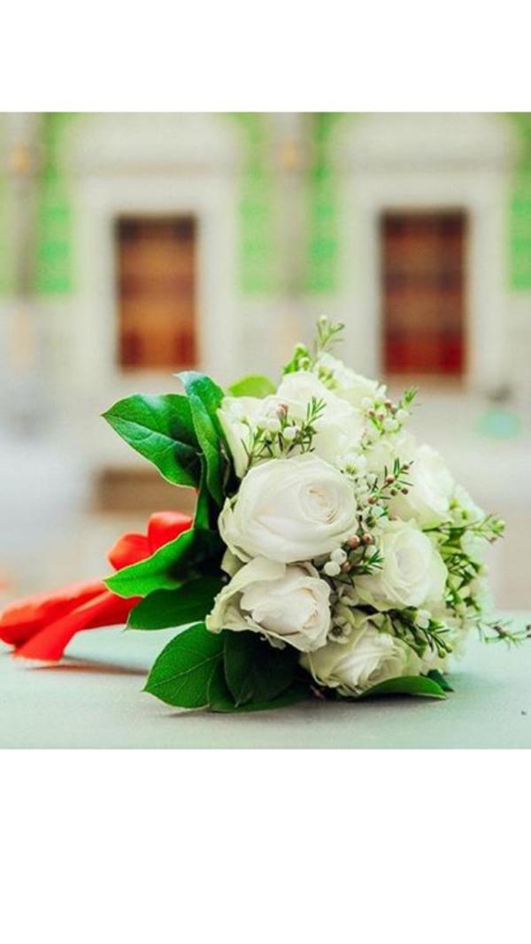 brudebuket hvid