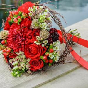 brudebuket rød