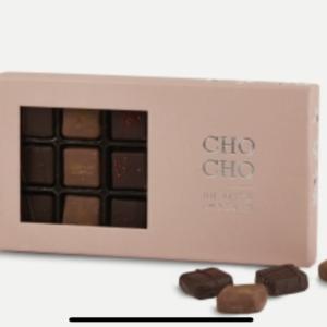 Lækker chokolade fra PR chokolade Æske med 190g luksus chokolade.